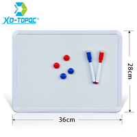 XINDI New 28 36cm Magnetic Whiteboard PVC Frame Magnetic Board On The Fridge Home Decoration Message
