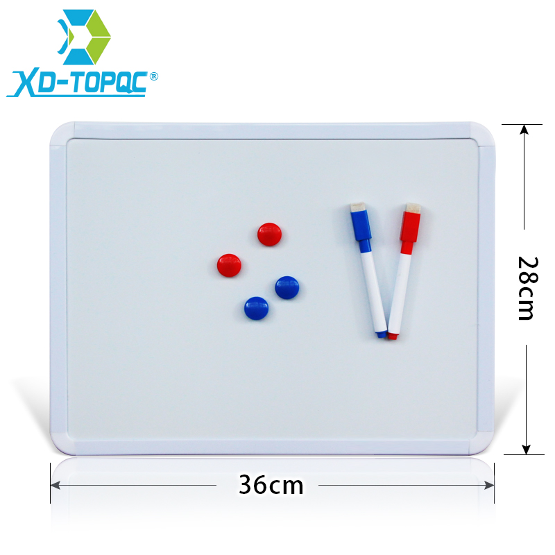 XINDI 28*36cm Magnetic <font><b>Whiteboard</b></font> PVC Frame Message White Board On Fridge For Home Decoration Message Drawing Board Notes WB01