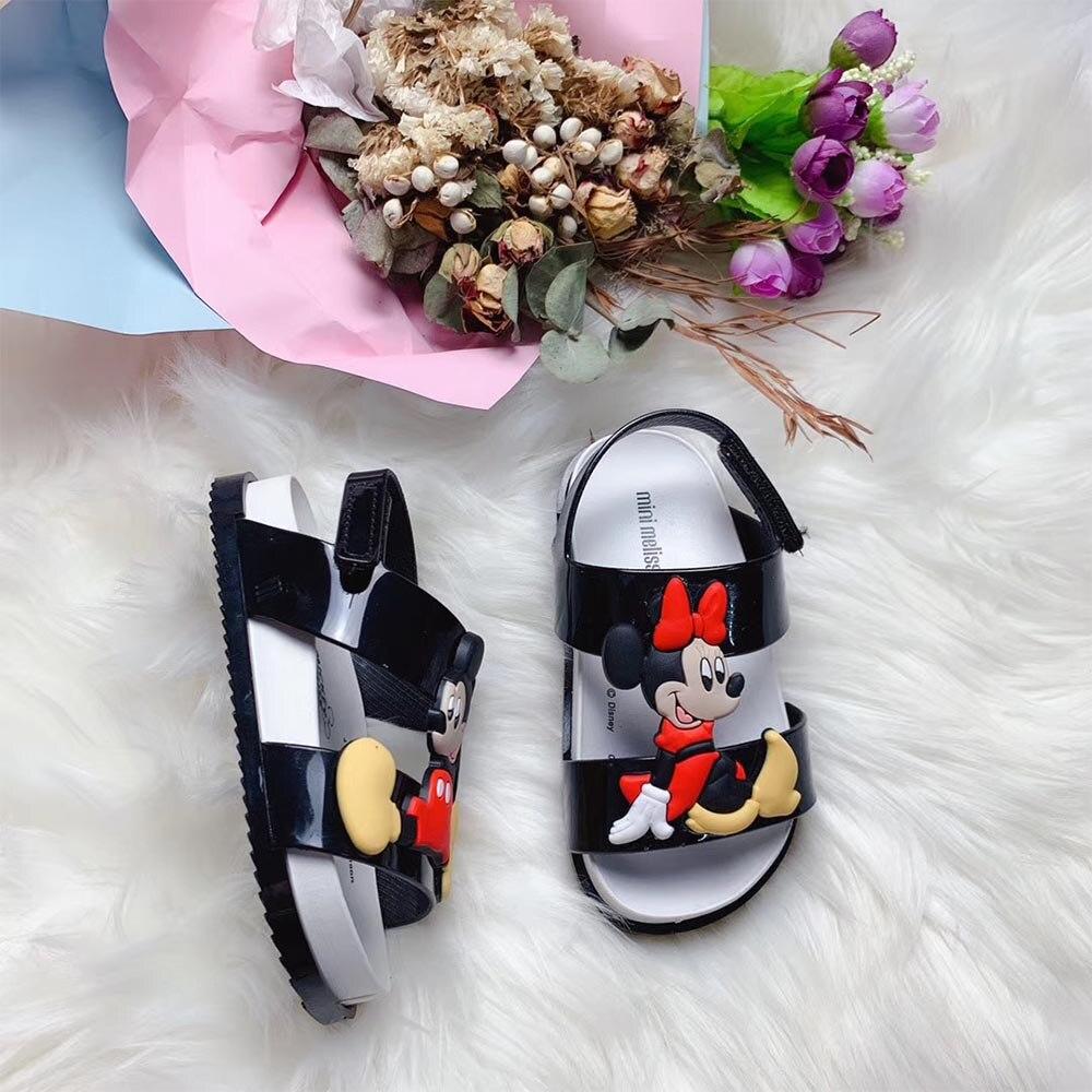 Mini Melissa Brands Sandals 2019 New Mickey Girl Sandals Melissa Kids Shoes Beach Sandals For Girls 13cm 1cm Non slip