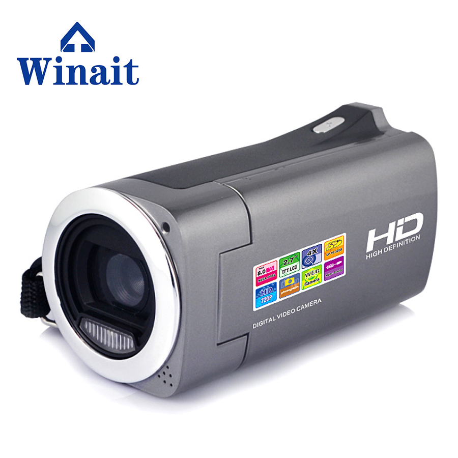 Freeshipping 18MP 5.0MP CMOS Professional Video Camera DVR HDV-828 2.7 720 HD Digital Video Camcorder PC Cam 10s Self-Timer