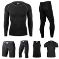 Men Compression Long Sleeve Jersey Bike T-shirts Quick Dry Shirts Bicycle Running Sports Tights Cycling Jerseys Bicycle Clothing