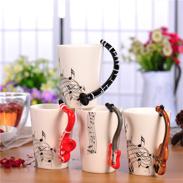 Guitar Ceramic Coffee Cup 4