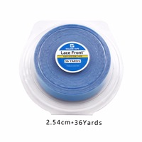 Hot Sales 1 inch*36 yards Lace Front Support Blue Double Sided Tape For Hair Extension/Toupee/Lace Wig/Pu Extension