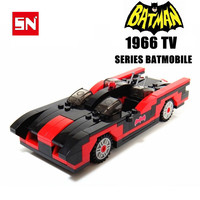 wholesale 10sets BATMAN 1966 TV SERIES BATMOBILE iron man Red LIMOUSINE Roadster DIY enlighten block building bricks baby toys