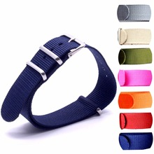 Watch Band Luxury Nylon Fabric 18mm 20mm 22mm Alloy Buckle Accessories Colorful Stripe Watchbands Sport