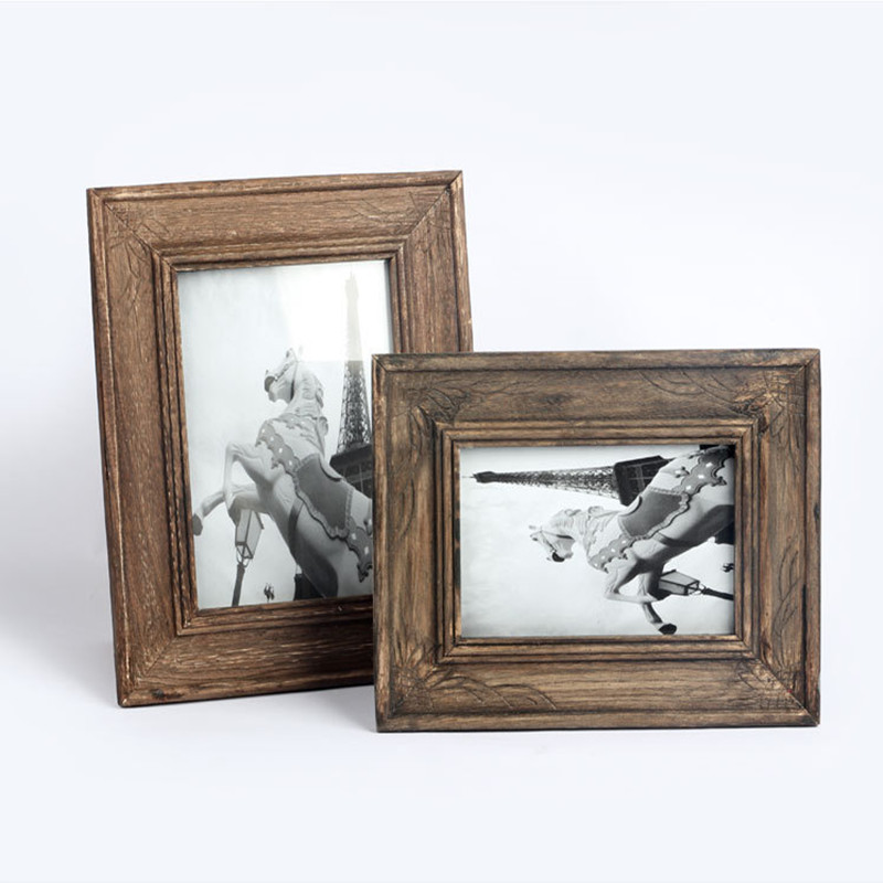 2016 new arrival retro classic design wood material photo frame 2 kinds picture frame home