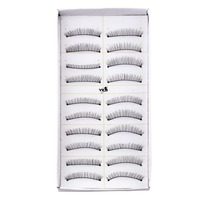 YKS 10 Pairs Women Party Curly False Eyelashes Make Up Facial Cosmetic Black Top Quality Worldwide