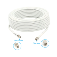 10m SMA Male Turn SMA Female Wire 50ohm Coaxial Cable For Connecting Outdoor Or Indoor Antenna