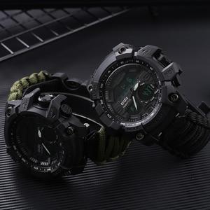 Image 2 - Addies ショックスポーツウォッチビッグダイヤルクォーツデジタル軍事防水男性腕時計男性時計スポーツメンズ腕時計コンパス