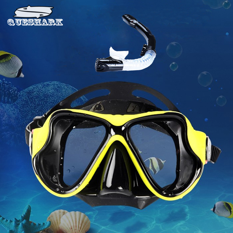 Underwater Diving Mask Snorkel Set Swimming Training Scuba Full Dry Snorkel Tube Snorkeling Mask Anti Fog Swim Glasses For Adult 4 colors adult half dry snorkel easy breath free spearfishing scuba diving mask underwater snorkeling set diving equipment