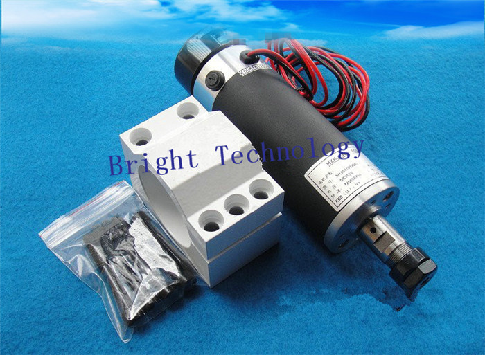 CNC 0.6kw Spindle Motor 6A 3000-13000r/min Air cooled 600W Spindle motor With ER16 Collet + Spindle Mount Bracket A302B цена