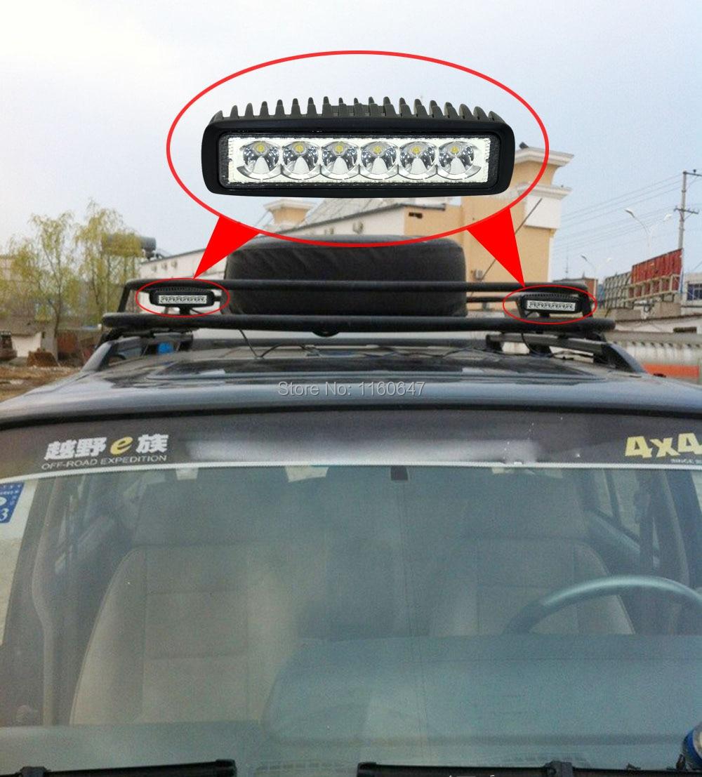 10 шт. мини 6 дюймовый светодиодный свет бар 18 Вт Светодиодная балка для внедорожников светодиодный фары 12 V 24 V 4x4 СВЕТОДИОД для трактора Грузовик Лодка Светлое пятно Наводнение IP67