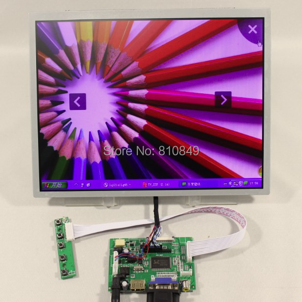 HDMI+VGA+2AV LCD lcd controller board+12.1inch LQ121S1LG75 800X600 Led panel ноутбук hp 15 bs016ur 1zj82ea intel pentium n3710 1 6 ghz 4096mb 500gb no odd amd radeon 520 2048mb wi fi cam 15 6 1920x1080 windows 10 64 bit