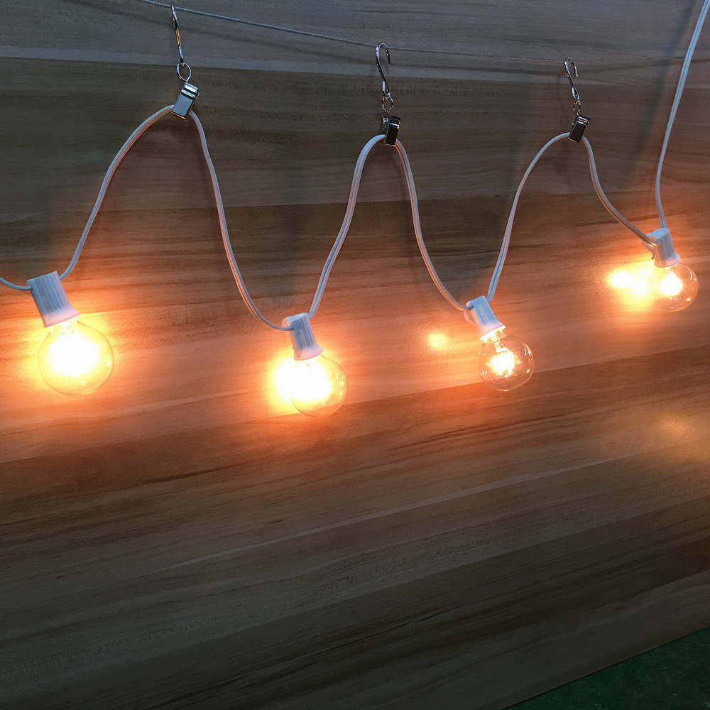 Image 3 - VNL G40 25 Clear Bulbs Festoon Led String Lights Waterproof Outdoor Led Clear Globe Ball String Garland Party Wedding Light HookLighting Strings   -