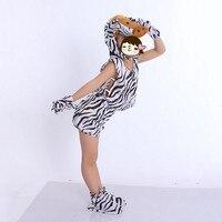 Nieuwigheid Jongen Meisjes Dier Zebra Cosplay Kleding Hoofddeksels Shirt Shorts Handschoenen Sokken Carnaval Feestartikelen Nieuwe Jaar