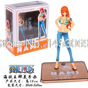 Free Shipping Japanese <font><b>Anime</b></font> <font><b>Cartoon</b></font> Two Years Later <font><b>One</b></font> <font><b>Piece</b></font> <font><b>Nami</b></font> <font><b>Action</b></font> <font><b>Figures</b></font> PVC Toys Doll Model Collection #030