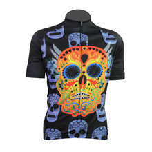 Bike jerseys Cycling equipment New Mens Cycling Jersey Comfortable Bike/Bicycle Motorcycle Apparels Skull Alien Sports Wear Mult