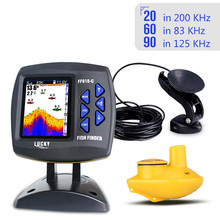 LUCKY  FF918-C100WDS Color Screen Boat Fish Finder Dual Frequency Wired& Wirelss water depth boat fish finder