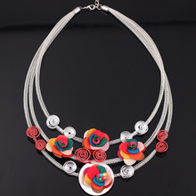 collar necklace flowers chocker pendant lovely accessories new 2015 spring/summer design woman man jewelry fashion(China)
