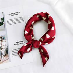 Квадратный шарф для волос с галстуком-бабочкой для деловой вечерние женский элегантный маленький винтажный Тощий Ретро головной платок