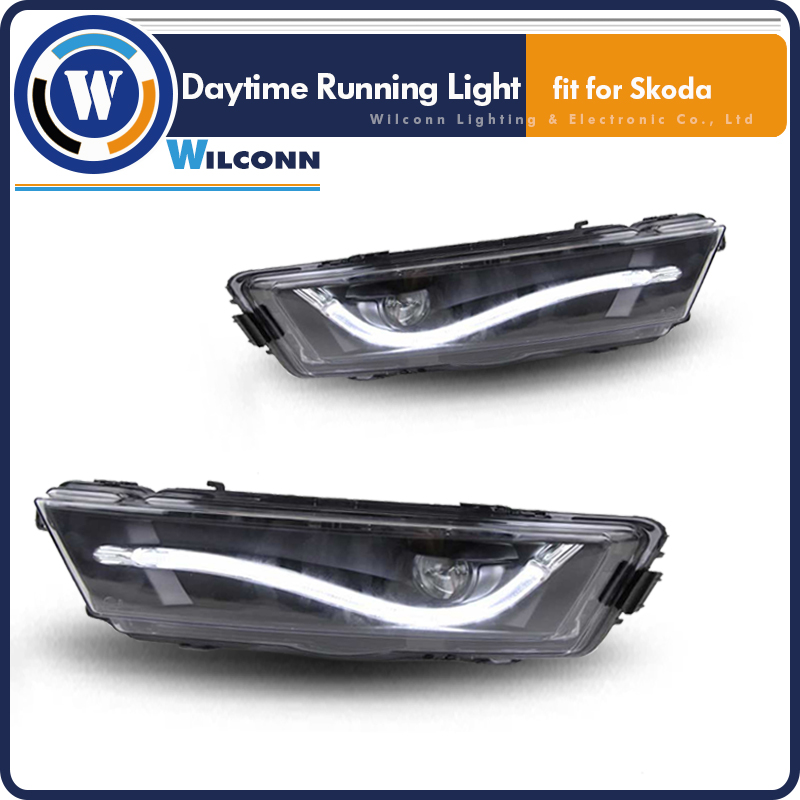 DRL LED Daytime Running Light For Skoda Rapid Driving Lamp