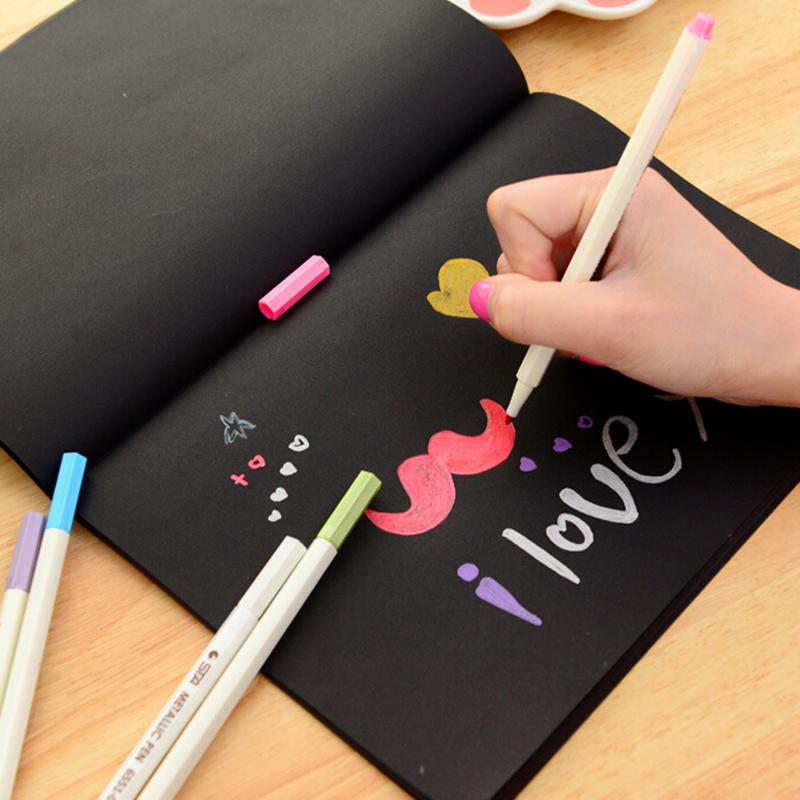 New Notebook Diary Black Paper Notepad 16K Sketch Graffiti Notebook Drawing Painting Office School Stationery Gift 13x14.5cm 10 notebook diary paper notepad sketch graffiti notebook for drawing painting office school stationery gifts gbr0791