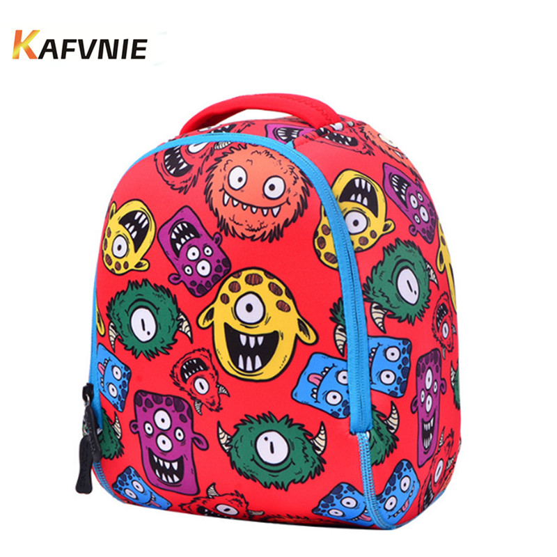 2-7Year Old Spider School Bags For Boys Neoprene Waterproof Backpacks Child Monster Book bag Kids Shoulder Bag Satchel Knapsack