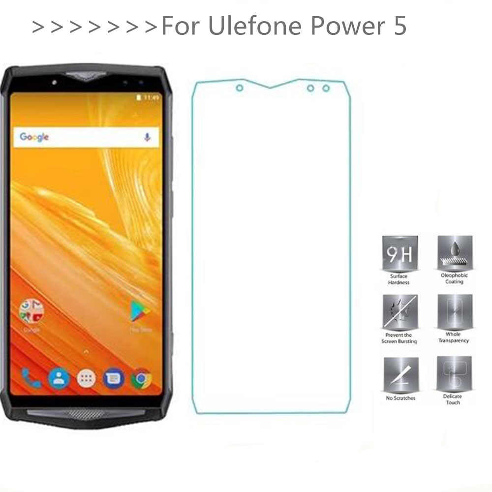 2PCS Tempered Glass For Ulefone Power 5 Screen Protector Transparent Protective Film For Ulefone Power 5S Phone Glass