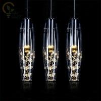AC110 220V European Crystal LED Pendant Lights Modern Creative Dining Room Pendant Lamp For Bedroom Bar Cafe Restaurant Hanglamp