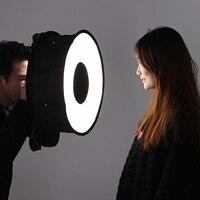 Lightdow 45cm 18cm Foldable Ring Speedlite Flash Diffuser Macro Shoot Round Softbox For Canon Nikon Sony
