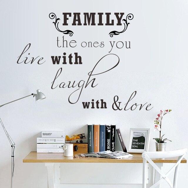 Nieuwe FAMILIE gesneden Engels tekst decoratieve muur zitkamer ...