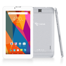 """YUNTAB 7"""" E706 alloy Tablet PC Quad Core touch screen 1024×600 Android 5.1 Dual Camera Support Sim Card 2800mAh battery(silver)"""