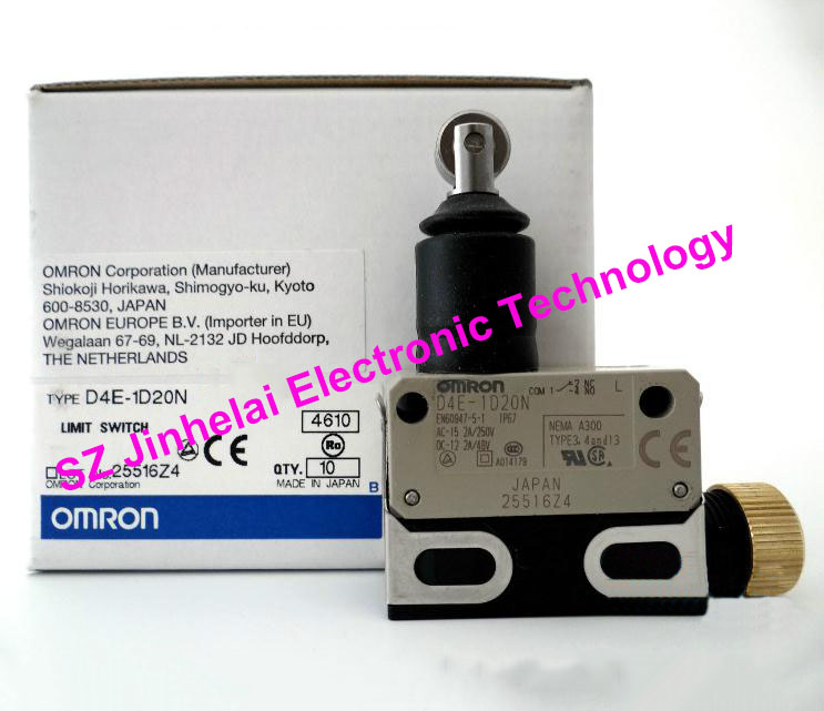 Authentic original OMRON LIMIT SWITCH D4E-1D20N original authentic micro switch ts236 11z m20
