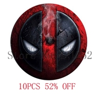 Dead Pool Dead Pool Pendant Glass Photo Cabochon Necklace keyring bookmark cufflink earring