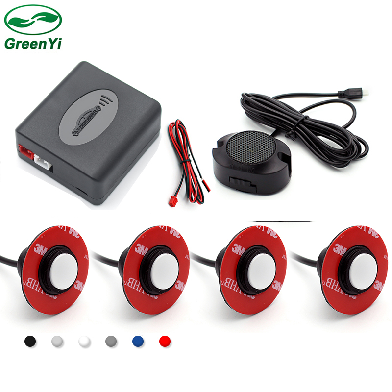 Original 13mm Flat Sensors Adjustable Depth 16mm Car Parking Sensor Assistance Backup Radar Buzzer System For Rear Front Bumper