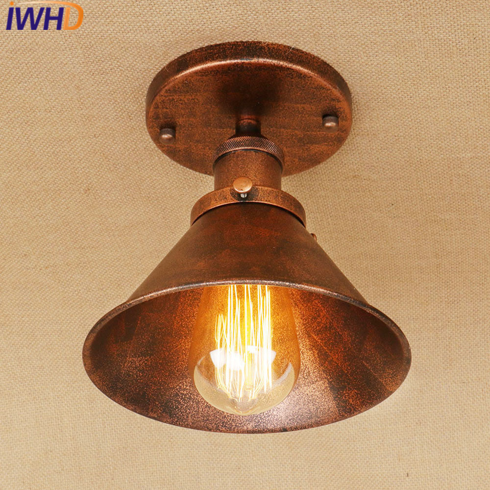 IWHD Iron Plafon LED Ceiling Lamp Kitchen Ceiling Lamps For Living Room Lamparas de Techo Vintage Luminairias Para teto modern led ceiling lights for home lighting plafon led ceiling lamp fixture for living room bedroom dining lamparas de techo