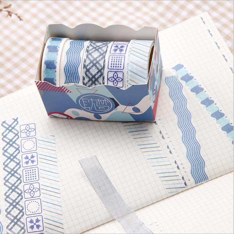 Peach Ocamo 5 Pcs Roll Washi Tape DIY Decoration Masking Tape Label Sticker Stationery