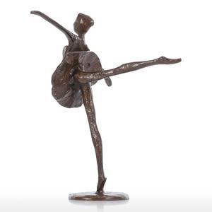 Image 5 - Ballet Dancing sculpture modern art Ballet Girl Iron Figurine Statue Ballerina Statue Female Statue Home Decoration accessories