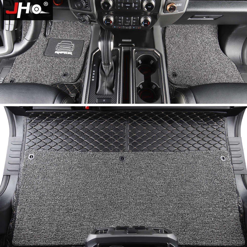 Jho 4 Door Car Wire Floor Mats For 2015 2019 Ford F 150 Raptor 2017 2016 2018 Luxury Surround Cover Carpets Truck Accessories