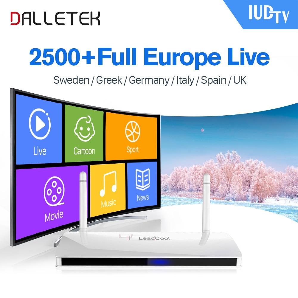 Leadcool IPTV Nordic Sweden Box Android Rk3229 Quad-Core IUDTV Subscription 1 year IPTV Italia Spain UK Germany Greece IP TV