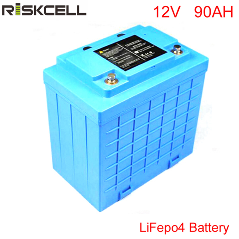 Free Customs taxes Rechargeable UPS backup 12 volt lithium ion battery lifepo4 12v 90ah For UPS Led lights Electric bike EV