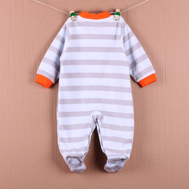 New Arrival Baby Footies Boys&Girls Jumpsuits Spring Autumn Clothes Warm Cotton Baby Footies Fleece Baby Clothing Free Shipping (11)
