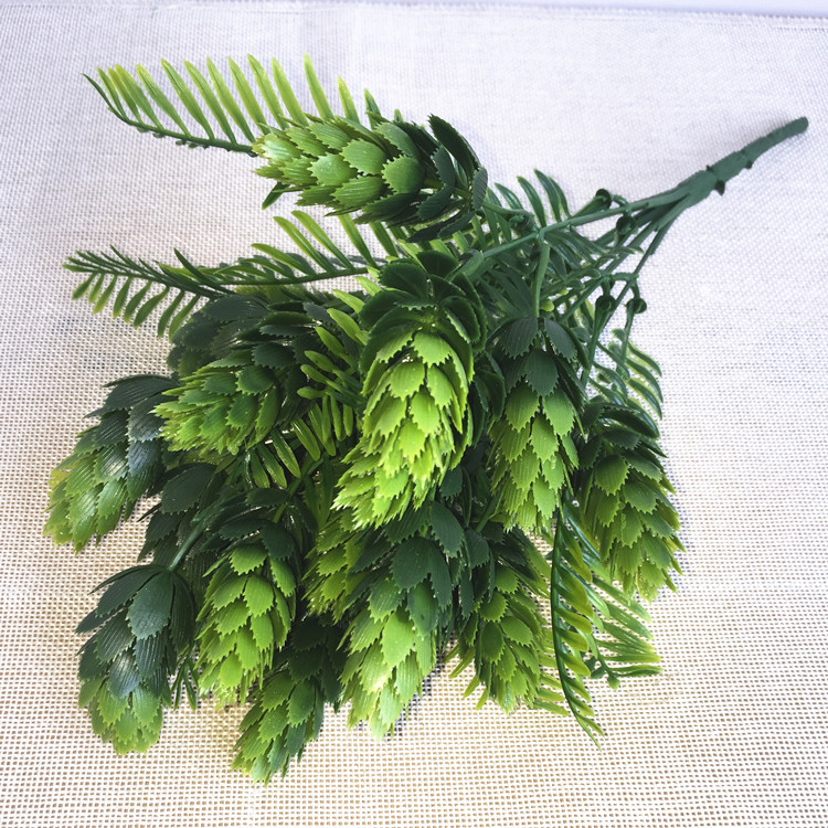 1 шт Chirstmas Home Decor Искусственные сосна гибкие сухие ветки Зеленый завод Пластик листья