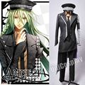 Amnesia Ukyo Cosplay Costume Japanese Anime Uniform Men's Suits black Jacket Tie Pants+Shirt+Hat Full Set