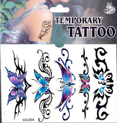 Ziemlich Schmetterling Schone Schonheit Tattoo Aufkleber 4 Stucke