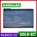 4400 mah batería del ordenador portátil para acer travelmate 2492 2493 4200 4202 batbl50l4 batbl50l6 batcl50l6