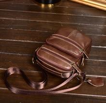 цена на HUANILAI Men Genuine Leather Bags For Men Shoulder Messenger Bags Phone Bags Multifunction Cowhide Handbags DD02