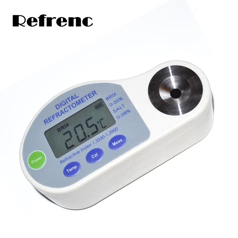 2 in 1 Pocket Digital Refractometer brix & salinity, 0-35%brix & 0-28% salinity special for Food industry fast arrival lb80 pocket type digital brix refractometer digital refractometer with brix 0 80%
