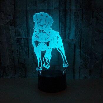 Nieuwe Hond 3d Tafel Lampen Voor Woonkamer Touch Remote controlled Led bureaulamp Lantaarn Voor Festival Gift Verlichting