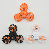 Flying Fidget Spinner Top Toy Blue Led Light Spinning Top Metal Hand Flying Anxiety Stress Release